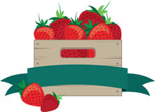 Crate Of Strawberries Stock Image