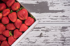 Crate of Strawberries at market Stock Photography
