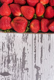 Crate of Strawberries at market Stock Image