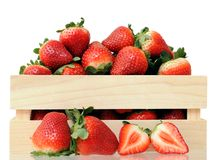 A crate of strawberries Royalty Free Stock Photos