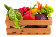 Crate vegetables Stock Photography