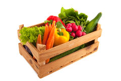 Crate vegetables Royalty Free Stock Photography