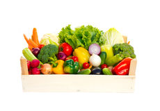 Crate with vegetables Stock Images