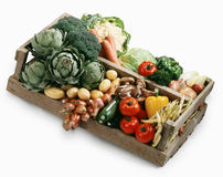 Crate of vegetables royalty free stock photography