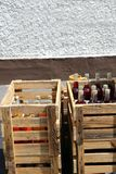 Crate with wine Stock Images