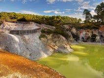 Crater湖,罗托路亚,新西兰 免版税库存图片