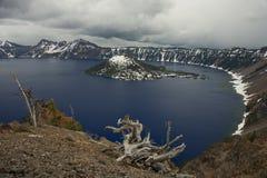 Crater湖 免版税库存照片