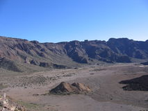Crater. Of a volcano of Tejde on island Tenerife Stock Photography