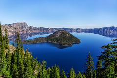 Crater湖 库存图片