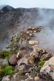 Crater of active volcano Yzalco Stock Photos