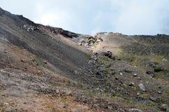 Crater of active volcano Yzalco, El Salvador Stock Photos