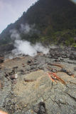 Crater bottom Stock Photo