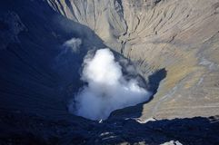 Crater of the Bromo volcano in Indonesia Royalty Free Stock Images