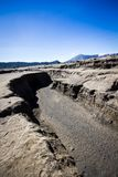 Crater in Bromo Vulcano east java indonesia Royalty Free Stock Photos