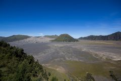 Crater in Bromo Vulcano east java indonesia Stock Photo