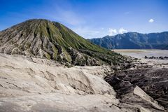 Crater in Bromo Vulcano east java indonesia Stock Photos