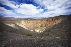 Crater in Death Valley. Ubehebe Crater in Death Valley Royalty Free Stock Images