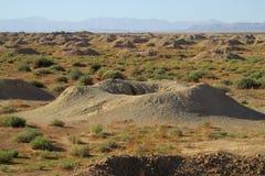 Crater in desert Stock Photos