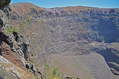 The crater of the dormant volcano Vesuvius Royalty Free Stock Image