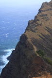 Crater Edge Rano Kau Easter Island Royalty Free Stock Photography