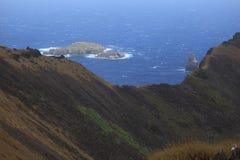 Crater Edge Rano Kau Easter Island Royalty Free Stock Photos