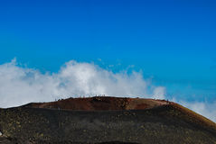 A crater of Etna mount in Sicily Royalty Free Stock Photo