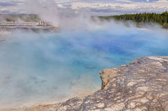 The crater of the Excelsior Geyser in Yellowstone National Park Royalty Free Stock Photo
