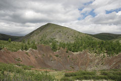 Crater of an extinct volcano Stock Photo