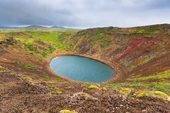 Kerith Volcano Crater in Iceland Stock Photos
