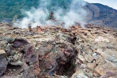 Crater floor Stock Photo