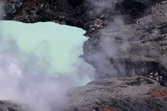 A crater and fumarole of the Poas volcano in Costa Rica Stock Photos