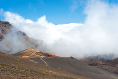 Crater on Haleakala on Maui, Hawaii Royalty Free Stock Photos