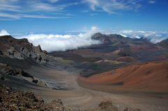 The crater of Haleakala volcano. Stock Photos