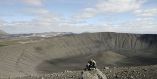 Crater Hverfjall volcano, Iceland Stock Images