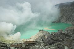 Crater Kawah Ijen east java, Indonesia Stock Photography