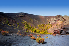 Crater La Palma San Antonio volcano Fuencaliente Royalty Free Stock Photo