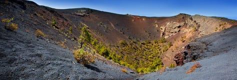 Crater La Palma San Antonio volcano Fuencaliente Stock Images