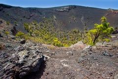 Crater La Palma San Antonio volcano Fuencaliente Royalty Free Stock Image
