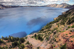 Crater Lake. From Rim Drive in Central Oregon Royalty Free Stock Photo