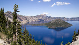 Blue Water Landscape Crater Lake NP Oregon Royalty Free Stock Photo