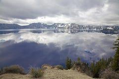 Crater lake Royalty Free Stock Image