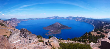 Crater Lake 45 megapixel panorama Stock Photos