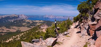 Crater Lake 45 megapixel panorama Stock Photo