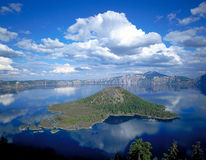 Crater Lake. Wizard Island in Crater Lake National Park, Oregon Royalty Free Stock Image