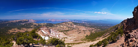 Crater Lake 60 megapixel panorama Stock Photography
