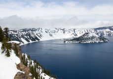 Crater lake Stock Images
