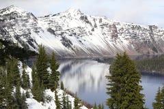 Crater Lake, Center of the Caldera Stock Photo