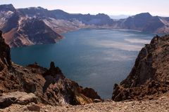 Crater Lake of Changbai Mountain Stock Photo