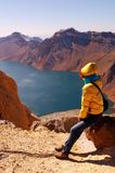 Crater Lake of Changbai Mountain Royalty Free Stock Image