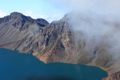 Crater Lake of Changbai Mountain Stock Photos